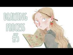 Drawing Process #5 ~ Luna Lovegood - YouTube