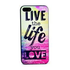 Coque iPhone 5 5S Live the Life you Love Apple Iphone 6 eb9805ccaf4b1