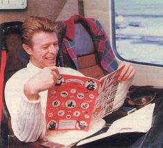 Bowie reads.
