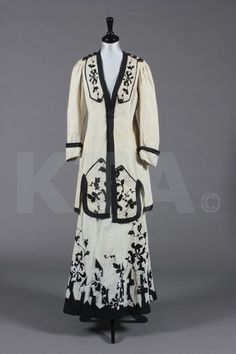 Lady's natural linen summer/walking suit, circa 1910