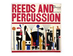 "S. Neil Fujita record album design 1961. ""Reeds and Percussion"" LP"