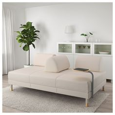 IKEA - FLOTTEBO Sleeper sofa with side table Lofallet beige