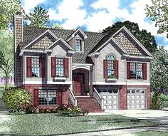 Open Floor Plan Three Bedroom Design - 59510ND | Narrow Lot, 1st Floor Master Suite, Bonus Room, CAD Available, Den-Office-Library-Study, MBR Sitting Area, PDF, Split Level, Sloping Lot | Architectural Designs