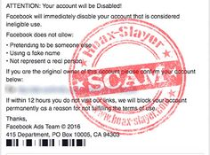 'Considered Ineligible Use' Facebook Phishing Scam