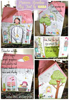 Princess Rosalina Play Tent by HABA review #kids #toys #princess