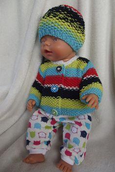 Oblečky pro panenky - barevné kočičí hlavy