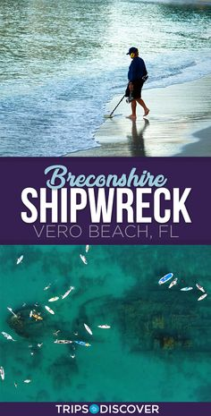 Explore an Underwater Shipwreck at This Beach in Florida ~ Breconshire Shipwreck Vero Beach, FL Vero Beach Florida, Florida Vacation, Florida Travel, Florida Beaches, Clearwater Florida, Florida Girl, Florida Living, Sarasota Florida, Florida Keys