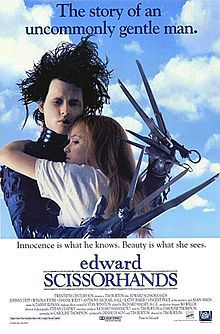 Edward Scissorhands is a 1990 American romantic fantasy film directed by Tim Burton and starring Johnny Depp. The film shows the story of an artificial man named Edward, an unfinished creation, who has scissors for hands. Edward is taken in by a suburban family and falls in love with their teenage daughter Kim.