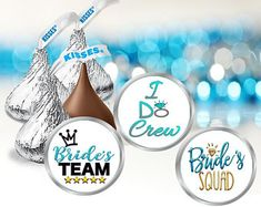 108 Bridal Shower Hershey Kiss Labels, Bachelorette Party Favor Stickers - Edit Listing - Etsy Unicorn Birthday Parties, Birthday Party Favors, Hersey Kisses, Round Labels, Bachelorette Party Favors, Printing Labels, For Your Party, Gift Tags, Bridal Shower