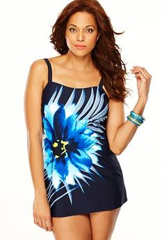Floral Swim Dress with Tummy Control