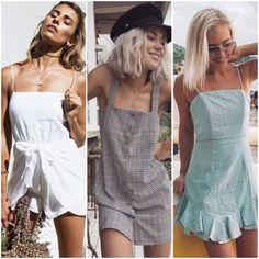 Tendências de moda verão 2019: Saiba tudo que vai bombar   Inspire 4 What? Fast Fashion, Ootd, Ideias Fashion, Summer Outfits, White Dress, Rompers, Street Style, Blazer, Inspiration