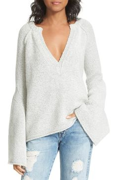 Bell Sleeve pull over Free People Sweater. so cozy for fall