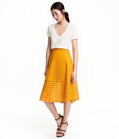 Textured Skirt | Mustard yellow | Ladies | H&M US