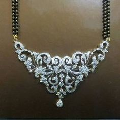 contemporary diamond mangalsutra designs - Google Search