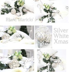 blanc mariclo silver christmas decorations