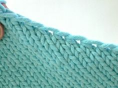 How to pick up stitches for a smooth neckline edge - By Theresa Vinson Stenersen.