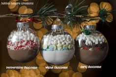 Hot Cocoa Mix Ornaments. Perfect Christmas gift idea for everyone on your list!.