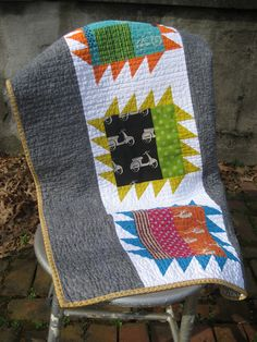 I LOVE this quilt. It might be my favorite yet. I made it for a family member, but it is going to be hard to give it up. But at the sa...