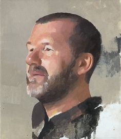 Diarmuid Kelley, b. 1972 Study for a Portrait, 2012, oil on linen, 14 x 12 inches