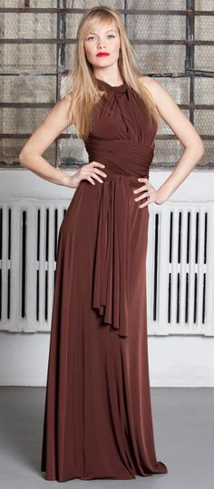 The new Long Transformer Dress from Von Vonni! Red Bridesmaids, Bridesmaid Outfit, Bridesmaid Gowns, Transformers, Transformer Dress, Country Wedding Inspiration, Best Friend Wedding, Infinity Dress, Yellow And Brown