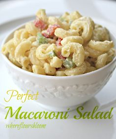 I have two wonderful macaroni salad recipes, and having a hard time deciding which is my favorite. Both are delicious! This one is called Perfect Macaroni Salad, and here is my other recipe called ...