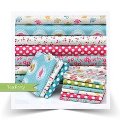Tea Party Quarter Fabric Bundle From Makower