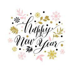 С Новым годом открытка Бесплатные векторы