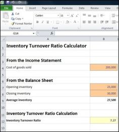 Inventory Turnover Ratio Calculator - Double Entry Bookkeeping