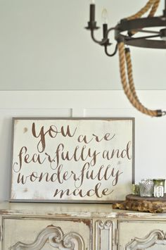 You are Fearfully and Wonderfully Made (customizable)