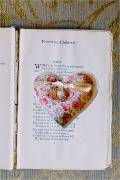 Wedding ceremony idea - use a vintage book to transport the rings Wedding Paper, Boho Wedding, Wedding Ceremony, Dream Wedding, Wedding Ring Photography, Ring Pillow Wedding, Guest Gifts, Wedding Officiant, Pen And Paper