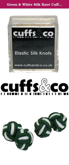 Green & White Silk Knot Cufflinks   Cuffs & Co. A simpler alternative to metal cufflinks, silk knots feature two small balls of stretchy knotted silk to create a cufflink fastening.