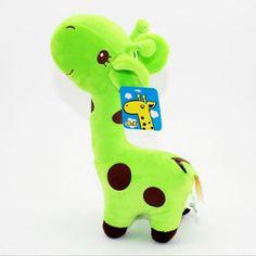 1 x Green Happy Plush Giraffe Soft Toy Animal Dear Doll Baby Kid Child Birthday Gift