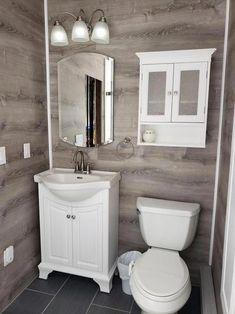 LifeProof Take Home Sample - Sterling Oak Luxury Vinyl Flooring - 4 in. x 4 - The Home Depot Small Bathroom With Shower, Bathroom Layout, Modern Bathroom Design, Bathroom Interior Design, Bathroom Wall, Bathroom Storage, Master Bathroom, Bathroom Backsplash Tile, Small Bathroom Vanities