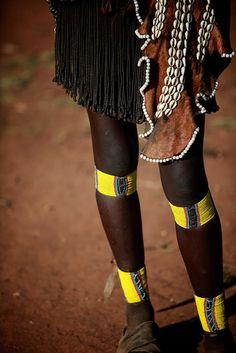 Africa   Tribal legs.  Hamer tribe/Dimeka   ©Ingetje Tadros