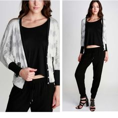 ❗️SALE❗️Woven V-Neck Cardigan Limited Quantity! 3/4 dolman ribbed cuff sleeves. Color: Off white, grey, black. Material: 66% rayon 30% polyester 4% spandex.Price is FIRM unless bundled. 10% off on bundles! Timing Jackets & Coats