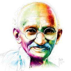 Gandhi - I am Love-Patrice Murciano-Giclee Print Harry Potter Wallpaper, Murciano Art, Mahatma Gandhi Photos, Gandhi Quotes, Quotes Wolf, Patrice Murciano, Oil Painting Basics, Pop Art, L'art Du Portrait
