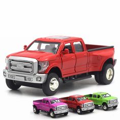 NEW High Simulation Exquisite Diecast Toy Vehicles Pull Back Car Styling Raptor Pickup Trucks 1:32 Light Music Alloy Model Gift #Affiliate