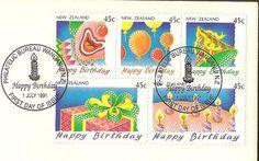 Happy Birthday July 1st 1991 New Zealand Post by TheOldBarnDoor