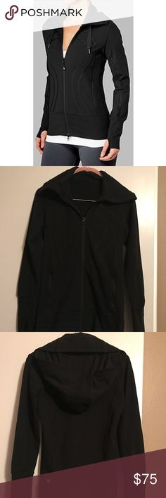 Lululemon Black Steide Jacket, EUC This super cute Lulu Stride Jacket is in excellent condition, its only flaw is that it is missing the string from the hood, but that doesn't affect the look or wear of this jacket at all.  The size is a 2 and color is jet black, so it is the perfect addition to any outfit!!  Don't forget to check out the rest of my items from Lululemon, Athleta, Hurley, Roxy, O'Neill, Bebe, White House Black Market, etc.  I am always happy to bundle! lululemon athletica…