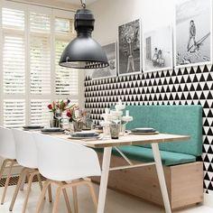 Uma sala com pegada escandinava e diferentona é massa também! #inspiração