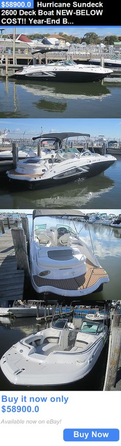 boats: Hurricane Sundeck 2600 Deck Boat New-Below Cost!! Year-End Blowout!! BUY IT NOW ONLY: $58900.0