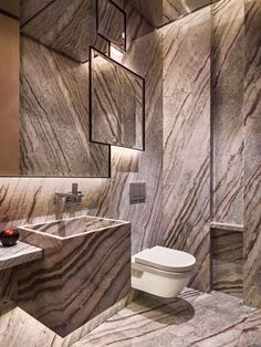 What a unique bathroom. The Walls-floor-sink area - all are amazing. YABU PUSHELBERG - RESIDENCES