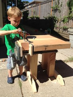 Perfect for the young woodworker