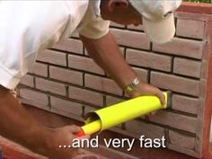 Slips brick pointing with a PointMaster - YouTube