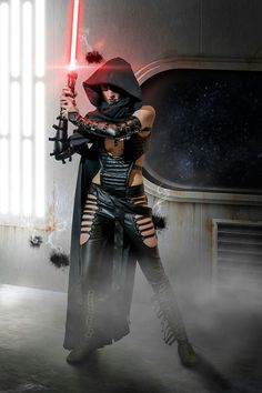 """Star Wars Jedi Cosplay"" ~ ...cool costume, but she is not a Jedi."