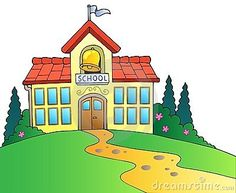 Illustration about Big school building - illustration. Illustration of countryside, bell, clipart - 20589132 School Images, School Pictures, Opengl Projects, Bus Drawing, Social Pictures, Colors For Toddlers, Building Illustration, Wheels On The Bus, School Building