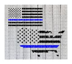 Blue Line American Flag, America ,Blue Lives Matter, Back the Blue, Police Support,Svg-Dxf- Cutting File For Cricut and Silhouette Cameo by CutItUpYall on Etsy