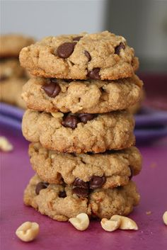 Low carb peanut butter chocolate chip cookies - grain free