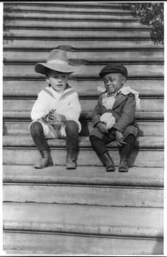 1902:  Theodore Roosevelt's son Quentin and his friend Roswell Pinckney