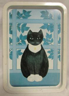Tray, Black and White Cat, Spain, 1984